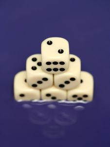 Free Dice In Blue Water III Stock Photo - 3542140