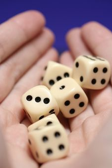 Free Dice In Hand Stock Image - 3542141