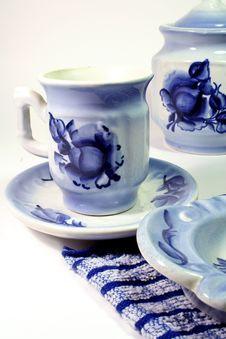 Free Tea-things Gzhel Stock Photo - 3542360