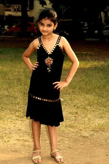 Free Rich Girl In Black Dress Royalty Free Stock Image - 3542626