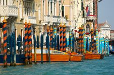 Details Of Canal Grande Stock Photography