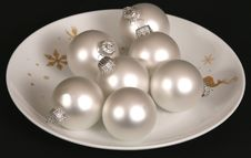 Free Silver Christmas Ornaments Stock Image - 3542721