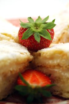 Cookies And Strawberry Stock Photography