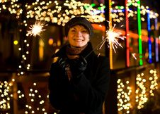Free Girl With Christmas Decoration Royalty Free Stock Photography - 3545427