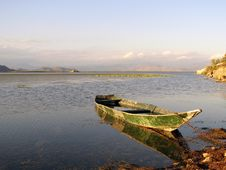 Boat On The Skadar Lake Royalty Free Stock Photos