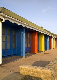 Coloured Beachhuts Royalty Free Stock Photos
