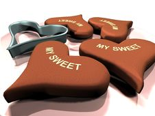 Love Sweet Hearts Stock Image