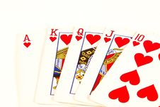 Free Royal Flush Royalty Free Stock Photography - 3546517