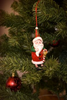 Free Santa In A Tree Royalty Free Stock Image - 3547466