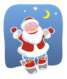 Cheerful Santa Stock Photo