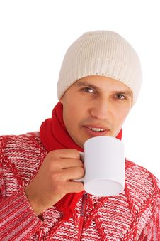 Free Isolated Winter Man Royalty Free Stock Photography - 3549457