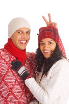 Free Two Winter Friends Royalty Free Stock Image - 3549476