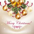 Free Beautiful Christmas Background  With  Shining Baubles And Bells Stock Photos - 35403203