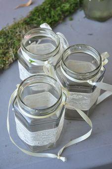 Free Empty Glass Jars Royalty Free Stock Photo - 35400595
