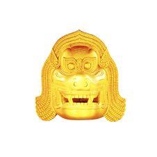 Thai Lion Head Golden Royalty Free Stock Photo