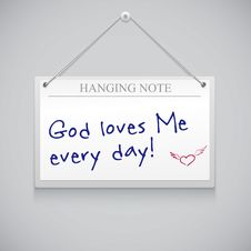 Free Hanging Note Board Stock Photo - 35405030