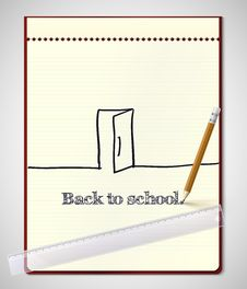 Free Back To School, Vector Illustration. Stock Image - 35405091