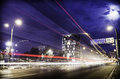 Free Light Trails At The Rush Hour Stock Images - 35413574