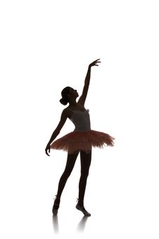 Free Ballerina Dancing On A White Background Royalty Free Stock Photography - 35418327