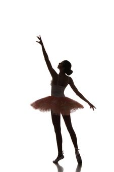 Free Ballerina Dancing On A White Background Royalty Free Stock Photography - 35418347