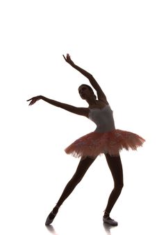 Free Ballerina Dancing On A White Background Stock Photo - 35418380