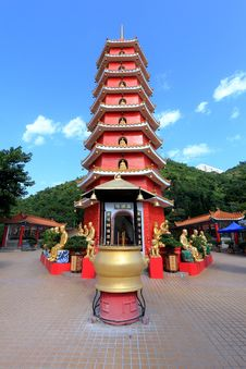 Ten Thousand Buddhas Monastery Stock Images