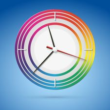 Bright Watch With A Dial Of The Rainbow Stock Photo
