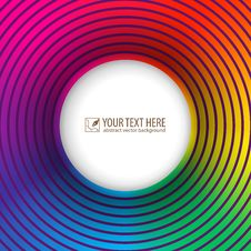 Free Bright Card With Colored Circles Stock Image - 35421661