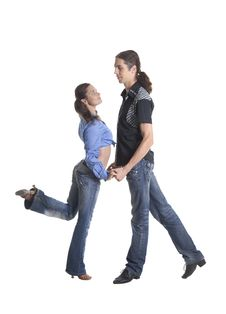 Free Dancing Couple Royalty Free Stock Image - 35424586