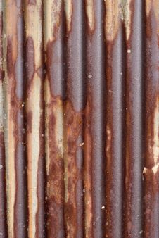 Rusty Corrugated Iron Royalty Free Stock Photography