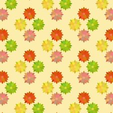 Free Vintage Flower Pattern In Warm Colors Stock Photos - 35425933
