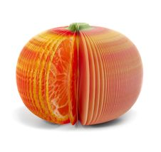 Paper Stick Note Grapefruit Mandarine Isolated Royalty Free Stock Image