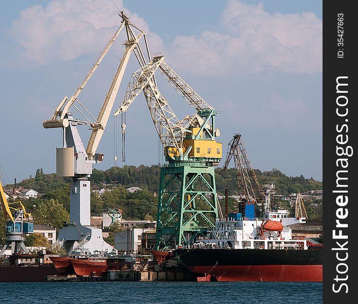 Seaport landscape