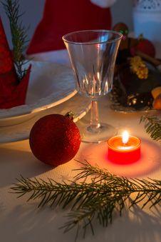 Free Christmas Table Deko Stock Photos - 35430033