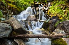 Free Waterfall In The Alps Stock Photo - 35431370
