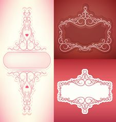 Free Ornate Set Of Elegant Rich  Ornate Vector Frames Royalty Free Stock Photo - 35436415
