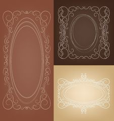 Free Set Of Elegant Rich  Ornate Vector Frames Royalty Free Stock Images - 35436419