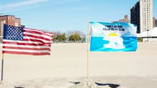 Free Polar Bear Club Flag,Coney Island Royalty Free Stock Image - 35438376