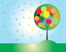 Free Colorful Tree Stock Photo - 35438400