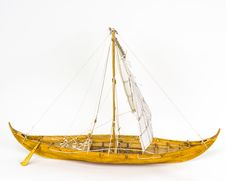 Free Viking Boat Model Royalty Free Stock Photo - 35439935