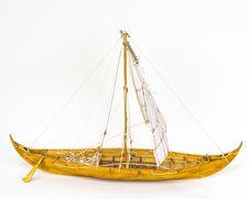 Viking Boat Model Royalty Free Stock Photo
