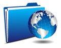 Free Earth Globe With Folder Royalty Free Stock Photos - 35440048