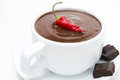 Free Cup Of Hot Chocolate With Chili, Close-up Royalty Free Stock Image - 35443966
