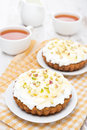 Free Mini Carrot Cakes With Cream Of Mascarpone And Honey Stock Image - 35444021