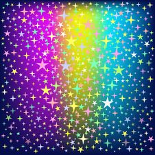 Free Colorful Star Rain On Glowing Background Royalty Free Stock Images - 35449259