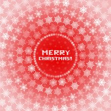 Free Snowflakes Circles Christmas Card Royalty Free Stock Photos - 35449418