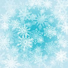 Free Chaotic Snowflakes Background Royalty Free Stock Photos - 35449568
