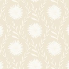 Free Tender White Flower Pattern On Light Background Royalty Free Stock Image - 35449786