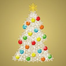 Free Vintage Christmas Tree Stock Photos - 35450323