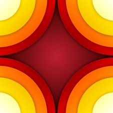 Free Abstract Red And Orange Circles Vector Background Royalty Free Stock Images - 35452649